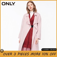 ONLY Women 100% Wool Double-faced Long Lace-up Trench Coat Jacket Overcoat| 11834S531(China)