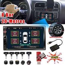 6 modos de alarma, 4/5 Uds., Sensor externo interno, TPMS Android para Radio de coche, reproductor de DVD, sistema de supervisión de presión de neumáticos, neumático de repuesto