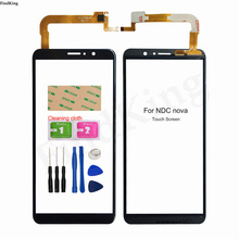 Mobile Touch Screen For NDC Nova Touch Screen Digitizer Panel Front Glass Lens Sensor 3M Glue Wipes Replacement Part