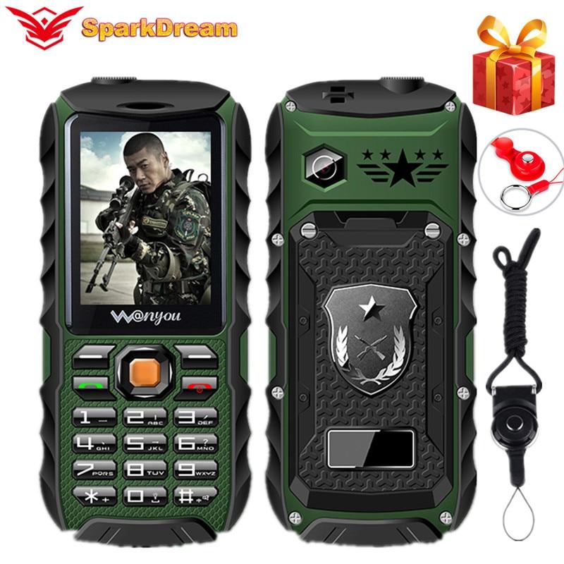 Водонепроницаемый телефон WY998 банк питания для мобильного телефона 2,4 дюйма, громкий динамик, MP3, 3800 мАч, ударопрочный, пыленепроницаемый