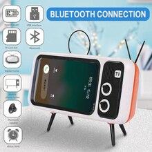 3 en 1 inalámbrico Peaker Retro TV Mini portátil Bluetooth bajo altavoz teléfono móvil soporte con altavoz marco fotográfico Retro regalo