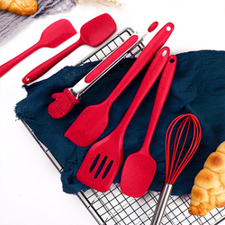 Silicone Kitchenware Cooking Utensils Set Christmas Holiday Style Heat Resistant Kitchen Non-Stick Cooking Utensils Baking Tools