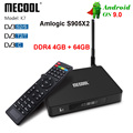 MECOOL K7 DVB-T2/S2/C S905X2 Android 9.0 TV Box Amlogic Quad Core 4GB DDR4 64GB 4K 2.4G K6 5G 1000Mbps WIFI Set top Box CAIXA de TV