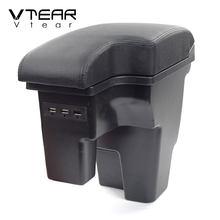 Vlarme pour Ford Focus 2 3 accoudoir boîte repose-bras style console centrale rangement voiture-style accessoires automobile décoration auto