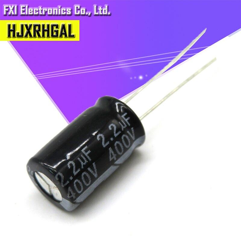 10PCS 400v2.2uf 400v2.2uf 6.3x12 400v 2.2uf 6.3*12 Elec Electrolytic Capacitor