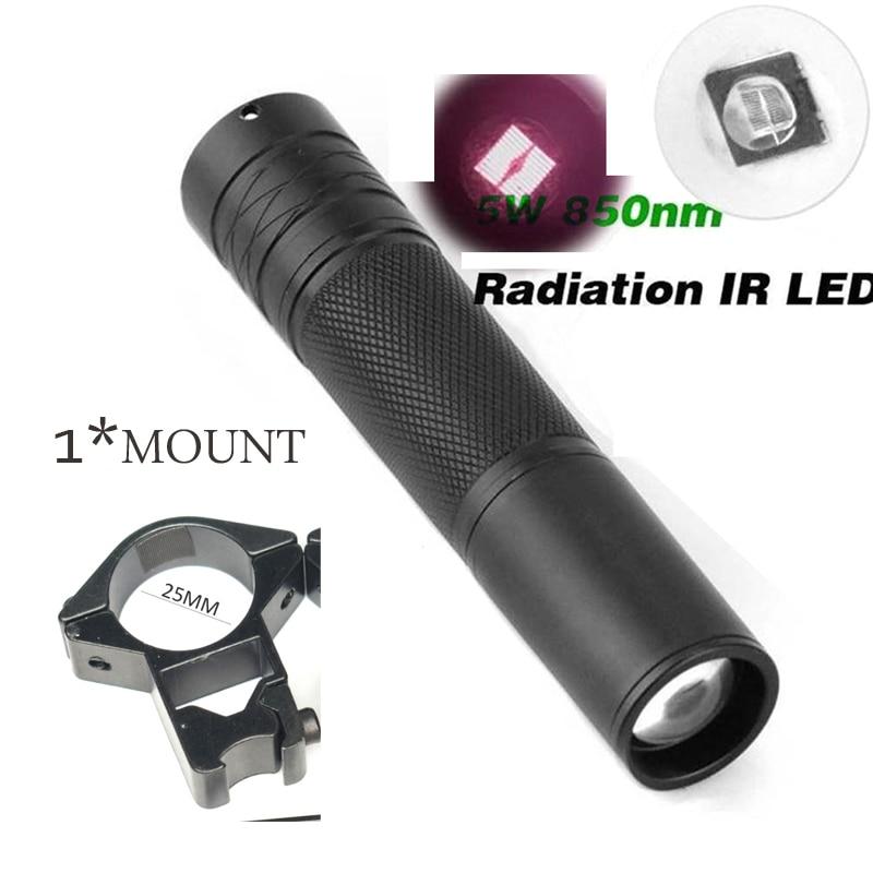Leistungsstarke T50mm Infrarot IR 850nm Nachtsicht LED Rot Weiß Taschenlampen
