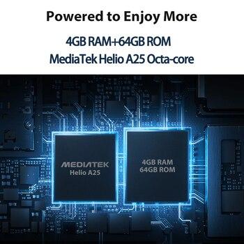 Blackview A80 Plus Mobile Phone Octa Core 4GB RAM+64GB ROM 13MP Quad Rear Camera 6.49 Inch Waterdrop Smartphone 4G Cellphone 5