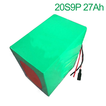 72V 27Ah 20S9P 18650 Li-ion Battery electric two Three wheeled motorcycle bicycle  ebike  210*185*140mm