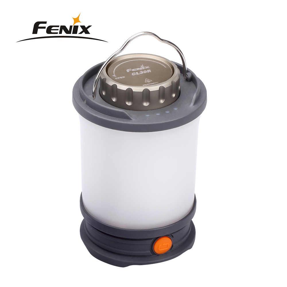 Fenix CL30R 650 люмен USB заряжаемый светильник для кемпинга/свет работы с 3X2600 mAh 18650 аккумуляторными батареями