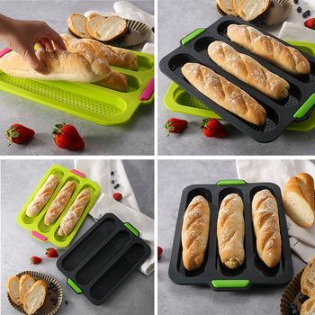 1 3 8 siatki DIY wypiek chleba formy silikonowe z hamburgerami francuski odporne na ciepło forma na chleb do pieczenia domu non-stick ciasto bagietka forma tanie i dobre opinie CN (pochodzenie) Na stanie Ekologiczne