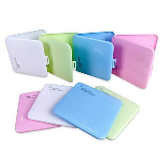 Portable Dustproof Face Mask Storage Holder Case Disposable Face Nose Cover Organizer Holder Mask Storage Case N95(China)