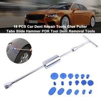 Mini Car Dent Remover Puller 18 PCS Car Body Paintless Dent Repair Tools Glue Puller Tabs Slide Hammer PDR Tool