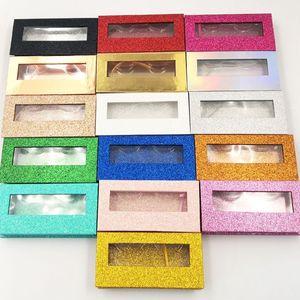 Image 2 - NEUE 10/20/40 stücke großhandel platz falsche wimpern verpackung box gefälschte 3d nerz wimpern boxen faux cils magnetische fall wimpern leere