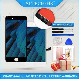 Image 1 - ЖК экран AAA + + для iPhone 6, 7, 8 Plus, сменный экран для iPhone 5, X, XR, XS MAX, без битых пикселей, с 3D сенсорным экраном