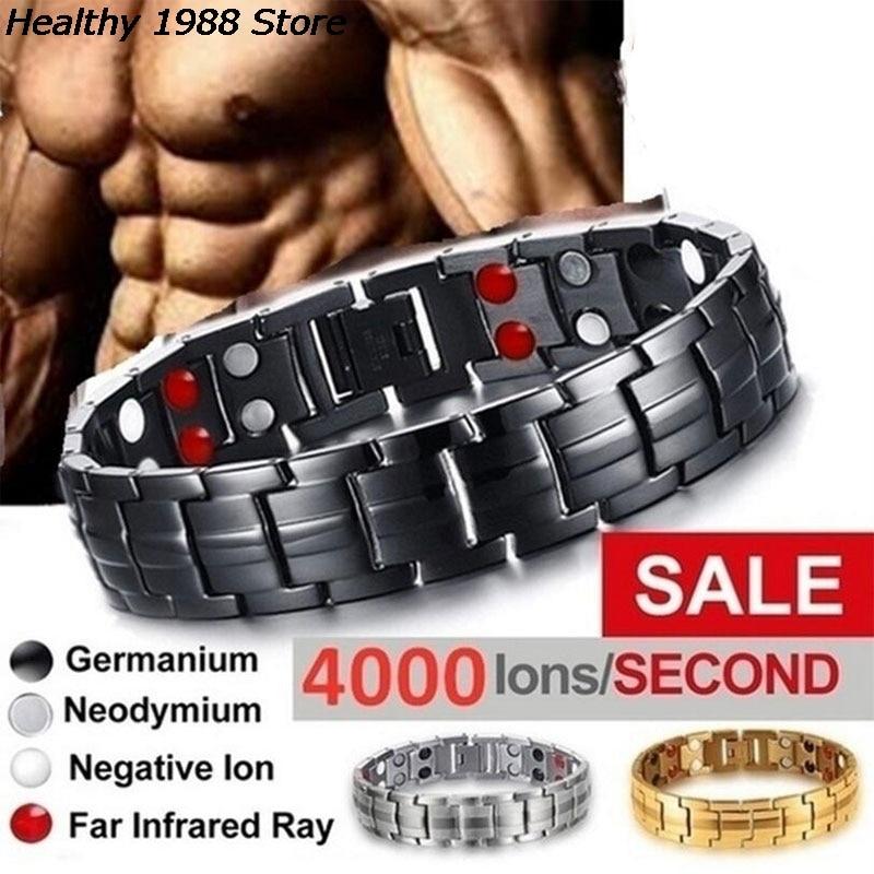 Мужские браслеты энергетический Магнитный турмалиновый браслет для здоровья ювелирные изделия для женщин браслеты браслет для похудения ...
