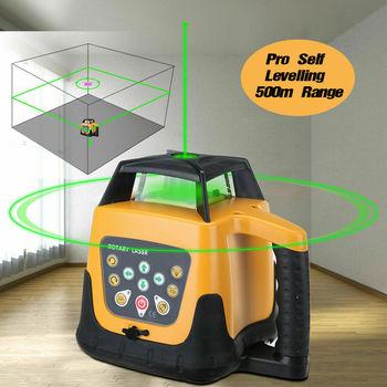 Honhill 360° Rotary Laser Level Green Self Rotating 500m Range w/ Case Auto