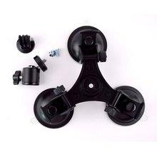 Triple Low Angle Suction Cup Mount Holder Ball Head For Car Gopro 2 3+ 4 Camera