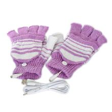 Magic Touch Screen Sensory Gloves For Women Gloves Girl 5V USB Powered Heating Heated Winter Hand Warmer Gloves Washable PP(China)