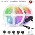 Zigbee RGB контроллер 1-10 м DC12V RGB 5050 60 светодиодный s/M RGB светодиодный полосы светильник + Мощность комплект с ZIGBEE 3,0 Smartthings Hub эхо плюс