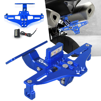 Motorcycle Adjustable Angle License Number Plate Frame Holder Bracket FOR YAMAHA XMAX300 XMAX 300 2017 2018 2019 2020 Allyears motorcycle adjustable angle aluminum license number plate frame holder bracket universal with steering lamp license plate