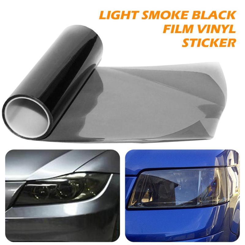 30x150cm 라이트 연기 검은 자동차 헤드 라이트 테일 라이트 색조 필름 비닐 스티커 자동 스타일링 장식 자동차 자동 조명 램프 필름
