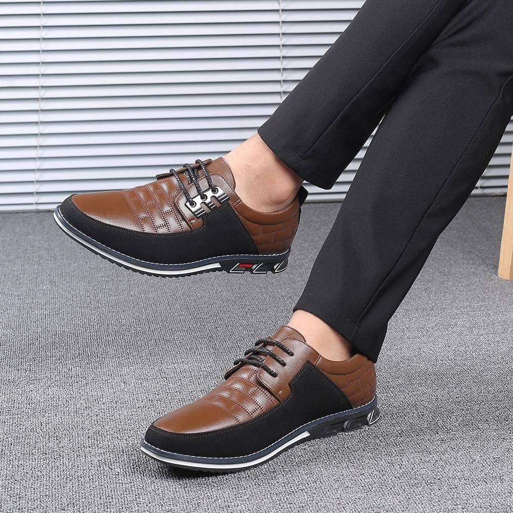 H125e7e655f014a2c8c9e509bf9be01f1g 2019 New Big Size 38-48 Oxfords Leather Men Shoes Fashion Casual Slip On Formal Business Wedding Dress Shoes Men Drop Shipping