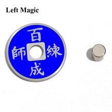 Mudança de cor da moeda chinesa truques mágicos mentais 3 mudança de cor para uma moeda adereços acessórios