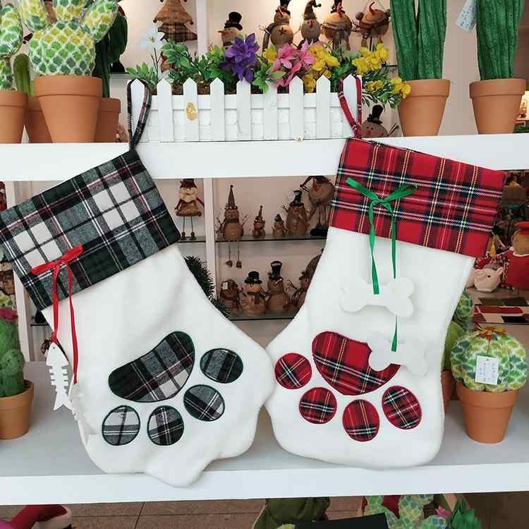 Собачья лапа рождественские украшения для чулок поставки рождественский дом, отель, украшение для торгового центра. Дерево Орнамент