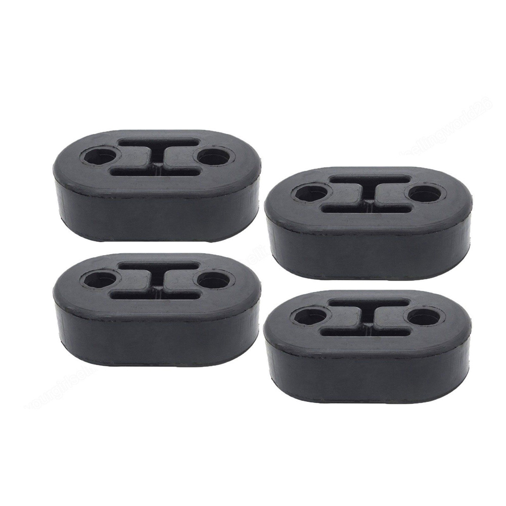 4 Pcs Exhaust Pipe Hanger Car Tail Muffler Rubber 4 Holes Insulator Mount Bracket Universal Automobiles Accessories