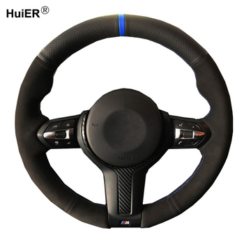 DIY Car Steering Wheel Cover Wrap Suede For BMW M Sport F30 F31 F34 F10 F11 F45 F07 F46 F22 F23 M235i M240i X1 F48 X2 F39 X3 F25