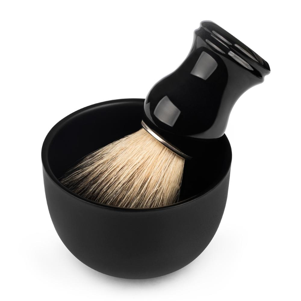 QSHAVE Stainless Steel Shaving Soap Bowl Safety Razor Classic Brush Stand For Shaving Cream 8.2 X 6 X 4.2 Cm Brush Not Including