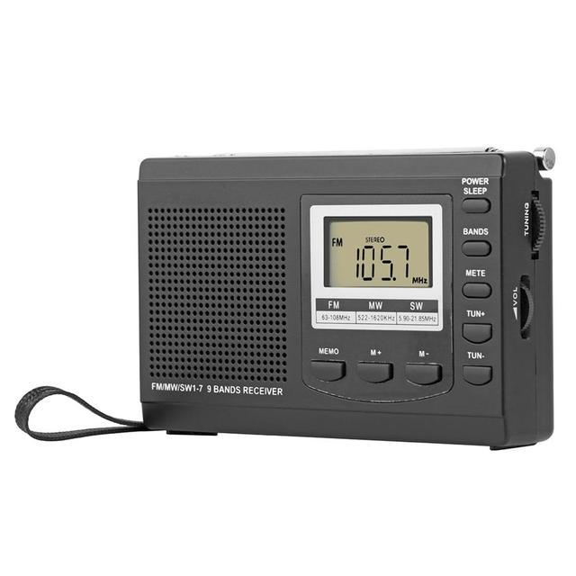 HRD 310ラジオfm mw swデジタルアラーム時計fm無線レシーバw/イヤホン音楽プレーヤースピーカー