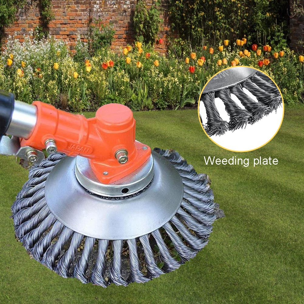 6 Inch/8 Inch Grass Trimmer Head Steel Wire Trimming Head Rusting Brush Cutter Mower Wire Weeding Head For Lawn Mower