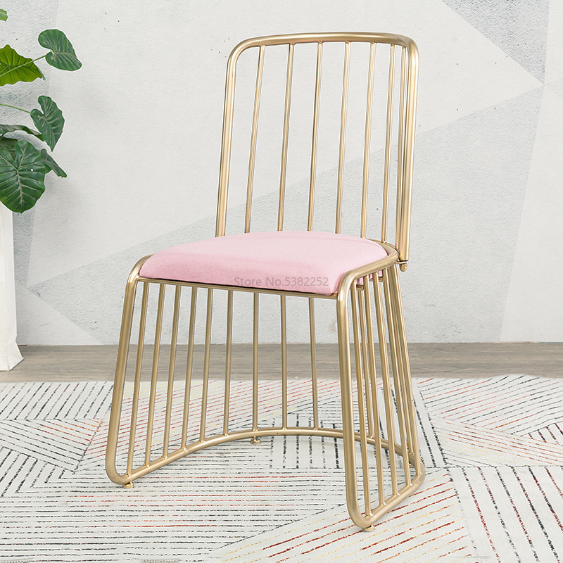 Nordic Iron Dining Chair Hotel Back Banquet Chair Marble Tea Table Chair Creative Table And Chair