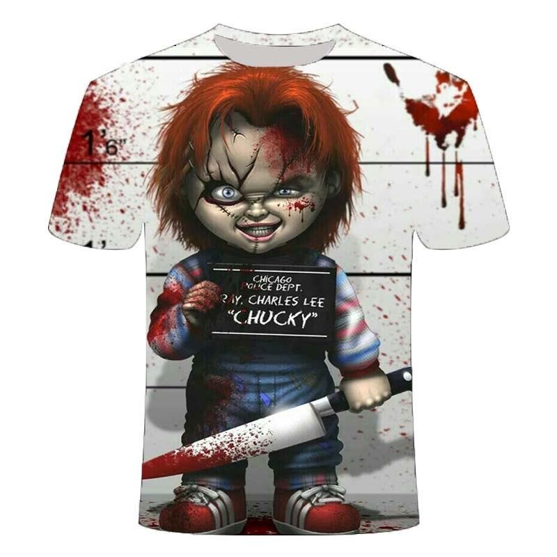 2020 мужские футболки ужасов модные новые летние мужские футболки с коротким рукавом повседневные 3D зомби печати рок футболки для мужчин с полным принтом| |   | АлиЭкспресс