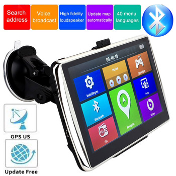 7-inch navigation device 256MB FM Bluetooth Tourist navigator GPS navigaton capacitive screen car navigation latest European