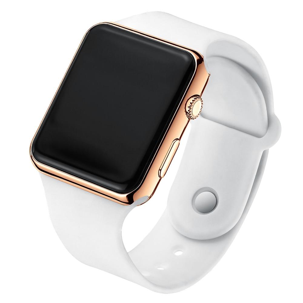 Watch for women Electronic LED Digital Women Watch Fashion Casual Simple Silicone female watch montre femme zegarek damski A001