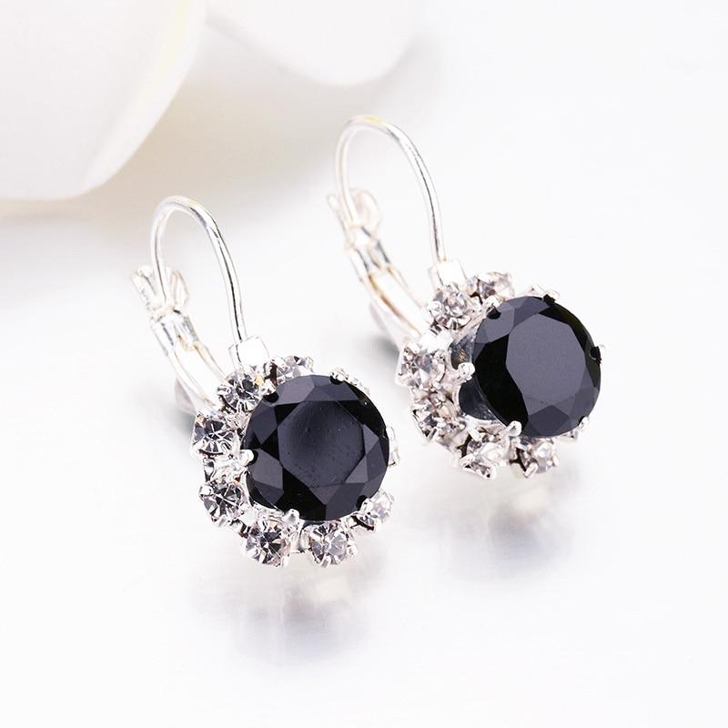 Crystal Star and Moon Earrings Rhinestone Long Pendant Dangle Fashion Jewe T~PL