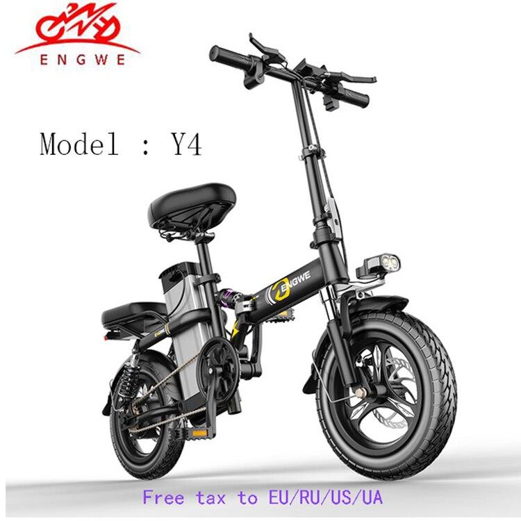 New Smart Folding Electric Bike 14inch Mini Electric Bicycle 48V 21A/32A LG large Battery city ebike 350W Powerful Mountain bike