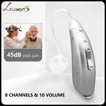 Amplificador de audição digital da prótese auditiva para adultos aberto ajuste ambos os ouvidos redução de ruído bte amplificador de som pessoal