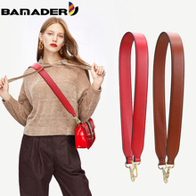 BAMADER Woman Bag Strap For Crossbody Genuine Leather Shoulder Bag Strap High Quality Bag Parts Accessories Luxury Leather Strap
