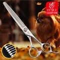Fenice 7 ''Rvs Honden Gromming Schaar Dunner Shears Scherpe Rand Dieren Kat Haar Snijden Huisdieren Snijgereedschap