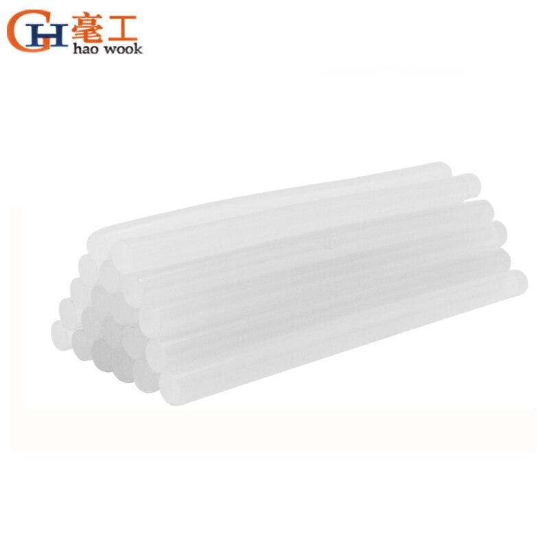 25//100PCS Mini Hot Melt Glue Sticks General Purpose Transparent Adhesive Stick