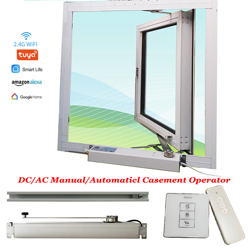 220V Automatic Manual Casement Window Close/open Skylight Motor Wifi Tuya RF Actuator Greenhouse Drive Window Operator