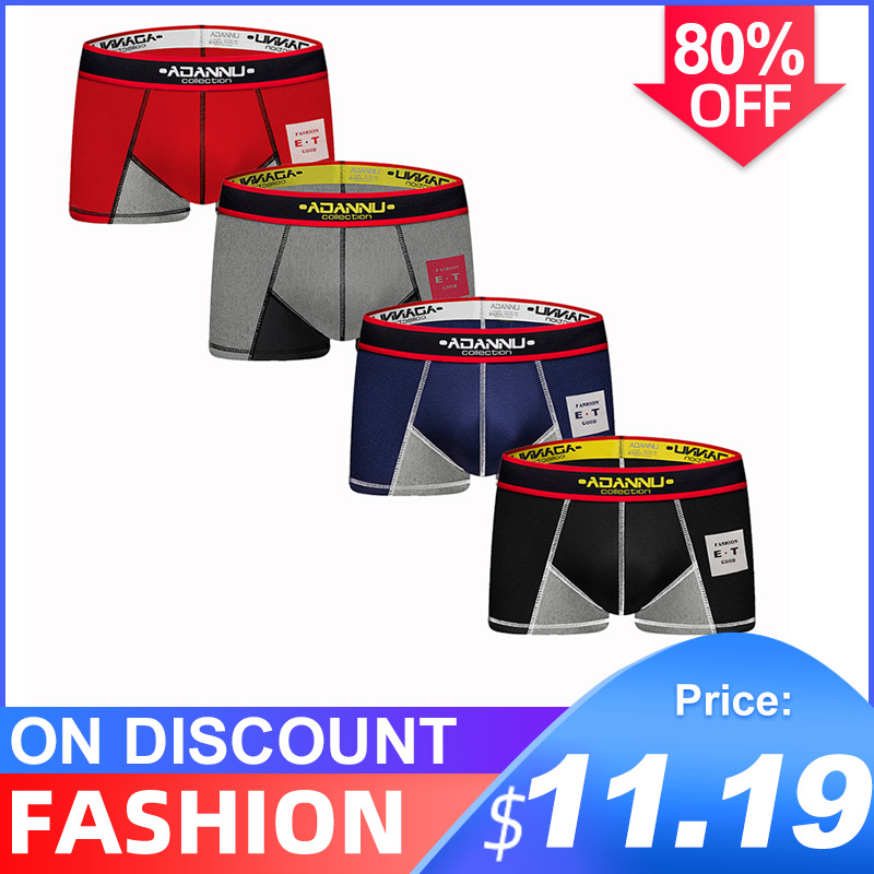 4Pcs/lot CMENIN 2020 New Cotton Patchwork Low Waist Underwear Mens Boxer Homme Male Underwear Boxer Men Undeware Boxers Sexi