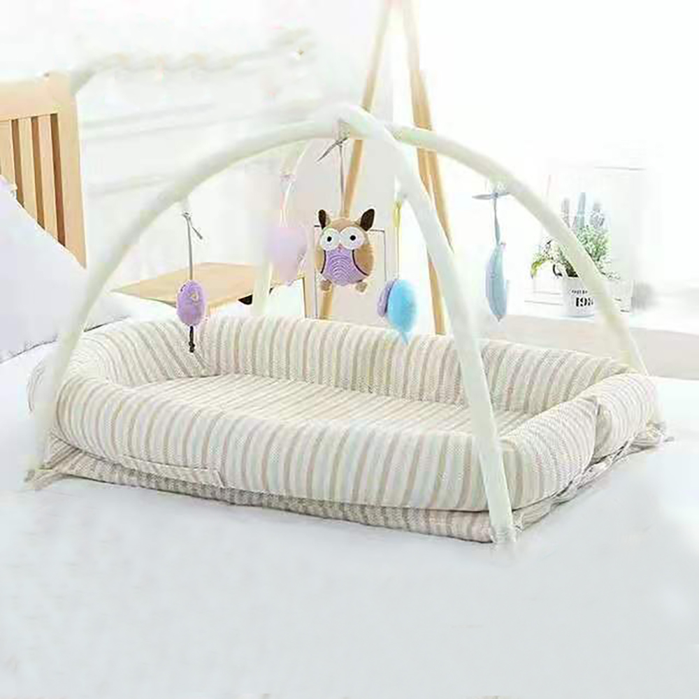 Baby Bed Travel Portable Mobile Baby Nest Cot Baby Nursery Foldable Travel Crib With Bumper Cot Mattress