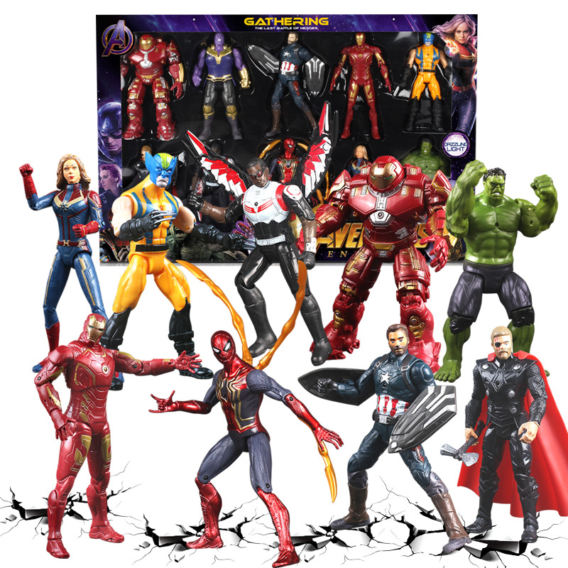 NEW Marvel Avengers 4  Endgame Movie Anime Super Heros Captain America Ironman Hulk Thor Superhero Action Figure