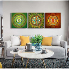 Yumeart Mandala ornamento Thangka Yoga lienzo pintura religión impresión Vintage arte pared imágenes sala de estar decoración sin marco