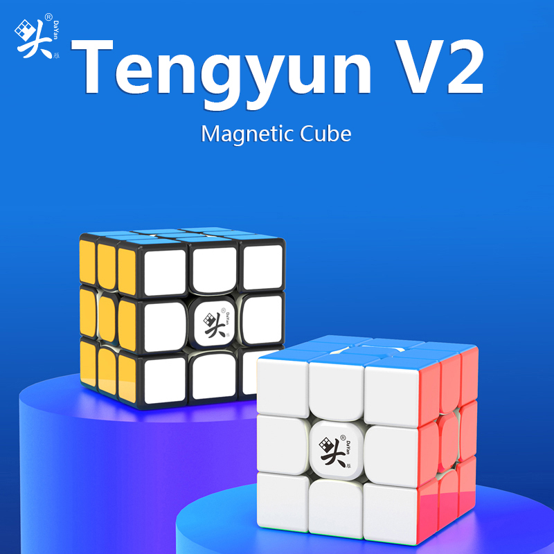 Dayan Tengyun V2 M 3x3x3 Magic Magnetic Cube 3x3 Speed Cubes Magnets Puzzle Educational Toys for kids Gifts Tengyun V2M