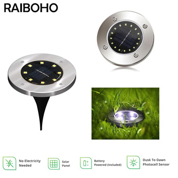 8/16/20 LED Solar Ground Light Waterproof Garden Pathway Solar Lamp for Home Yard Driveway Lawn Road White/Warm White 1